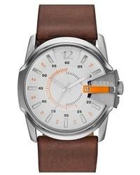 Reloj de cuero marrón de Diesel