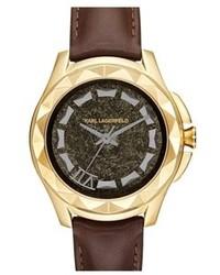 Reloj de cuero marrón de Karl Lagerfeld