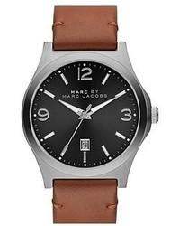 Reloj de cuero marrón de Marc by Marc Jacobs