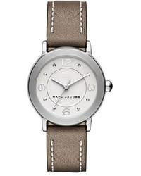 Reloj de cuero marrón de Marc Jacobs
