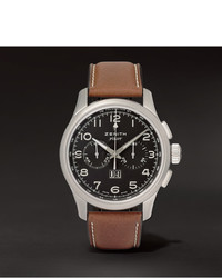 Reloj de cuero marrón de Zenith