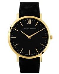 Reloj de Cuero Negro y Dorado de Larsson & Jennings