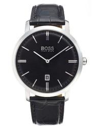 Reloj de Cuero Negro de BOSS
