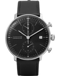 Reloj de cuero negro de Junghans