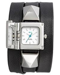 Reloj de cuero negro de La Mer