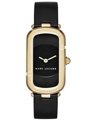 Reloj de cuero negro de Marc Jacobs
