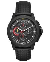 Reloj de cuero negro de MICHAEL Michael Kors