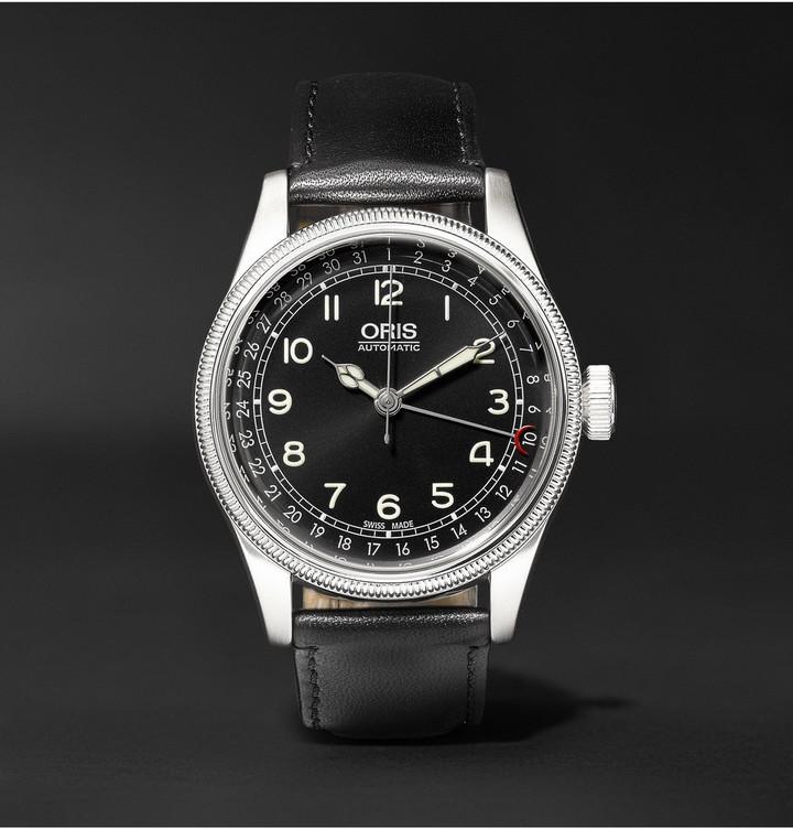 Reloj de cuero negro de Oris