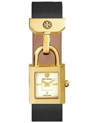 Reloj de Cuero Negro de Tory Burch