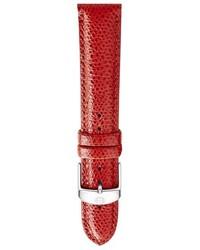 Reloj de cuero rojo de Michele