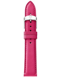 Reloj de cuero rosa de Michele