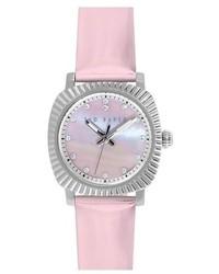 Reloj de cuero rosado de Ted Baker
