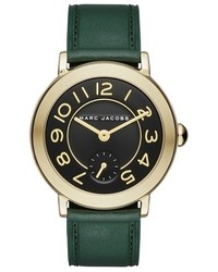 Reloj de Cuero Verde Oscuro de Marc Jacobs