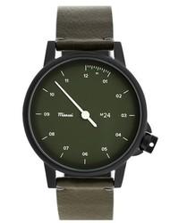 Reloj de cuero verde oscuro de Miansai