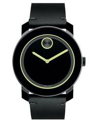 Reloj de cuero verde oscuro de Movado