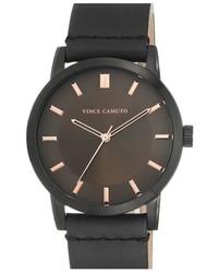 Reloj de cuero verde oscuro de Vince Camuto