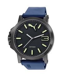 Reloj de goma azul marino de Puma