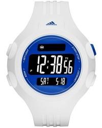 Reloj de goma blanco de adidas