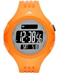 Reloj de goma naranja de adidas