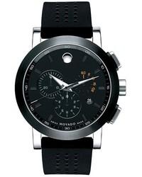 Reloj de goma negro