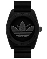 Reloj de goma negro de adidas