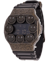 Reloj de goma negro de Eyefunny