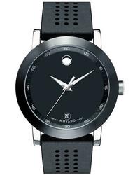 Reloj de goma negro de Movado