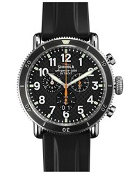 Reloj de goma negro de Shinola