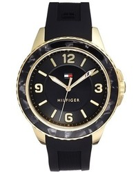 Reloj de goma negro de Tommy Hilfiger