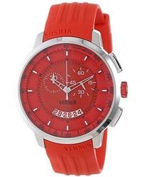 Reloj de goma rojo
