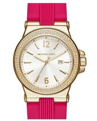 Reloj de goma rosa de MICHAEL Michael Kors