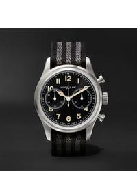 Reloj de lona de rayas horizontales negro