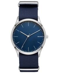 Reloj de Nylon Azul Marino de Skagen