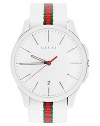 40f57c55790d ... verde y rojo de Gucci Agotado · Reloj de nylon blanco de Gucci