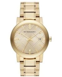 Reloj dorado de Burberry