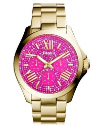 Reloj dorado de Fossil