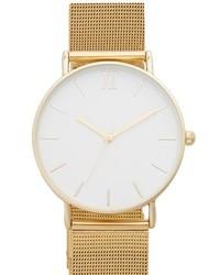 Reloj dorado de Topshop