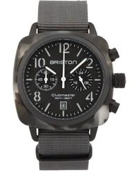Reloj en gris oscuro de Briston