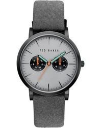 Reloj en gris oscuro de Ted Baker