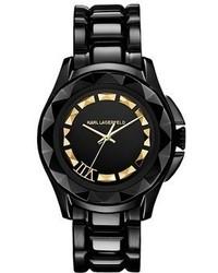 Reloj en negro y dorado de Karl Lagerfeld
