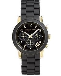 Reloj en negro y dorado de Michael Kors