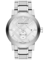 Reloj plateado de Burberry
