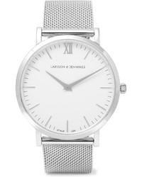 Reloj plateado de Larsson & Jennings