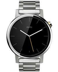 Reloj plateado de Motorola