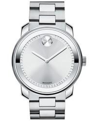 Reloj plateado de Movado