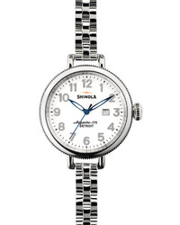 Reloj plateado de Shinola