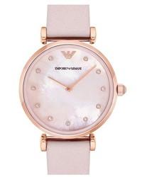 Reloj rosado de Emporio Armani