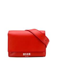 Riñonera de cuero roja de MSGM