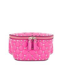 Riñonera de cuero rosa de Valentino
