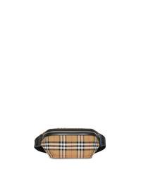 Riñonera de lona marrón claro de Burberry